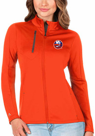 New York Islanders Womens Antigua Generation Light Weight Jacket - Orange