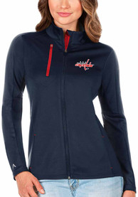 Washington Capitals Womens Antigua Generation Light Weight Jacket - Navy Blue