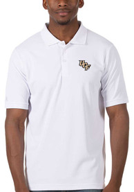 UCF Knights Antigua Legacy Pique Polo Shirt - White