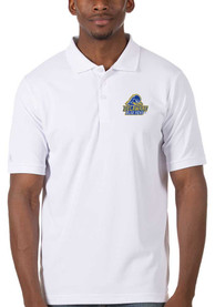 Delaware Fightin' Blue Hens Antigua Legacy Pique Polo Shirt - White