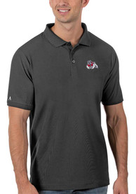 Fresno State Bulldogs Antigua Legacy Pique Polo Shirt - Grey