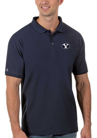 BYU Cougars Antigua Legacy Pique Polo Shirt - Navy Blue