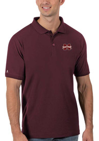 Mississippi State Bulldogs Antigua Legacy Pique Polo Shirt - Red