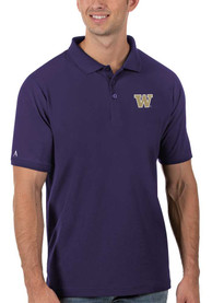 Washington Huskies Antigua Legacy Pique Polo Shirt - Purple
