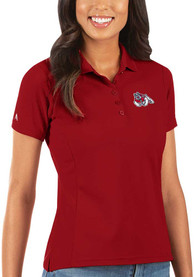 Fresno State Bulldogs Womens Antigua Legacy Pique Polo Shirt - Red