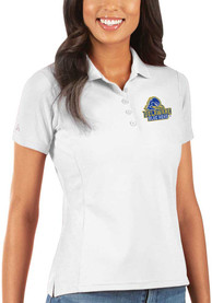 Delaware Fightin' Blue Hens Womens Antigua Legacy Pique Polo Shirt - White