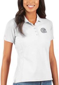 Georgetown Hoyas Womens Antigua Legacy Pique Polo Shirt - White