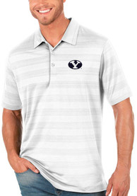 BYU Cougars Antigua Compass Polo Shirt - White