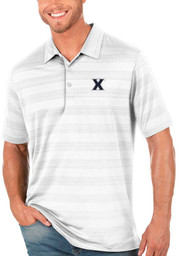 Antigua Xavier Musketeers Mens White Compass Short Sleeve Polo
