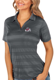 Fresno State Bulldogs Womens Antigua Compass Polo Shirt - Grey