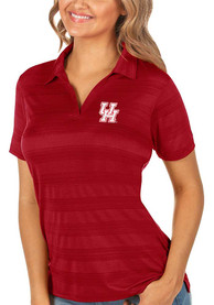 Houston Cougars Womens Antigua Compass Polo Shirt - Red