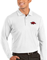 Arkansas Razorbacks Antigua Tribute Polo Shirt - White