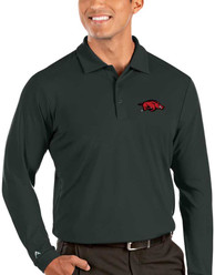 Arkansas Razorbacks Antigua Tribute Polo Shirt - Grey
