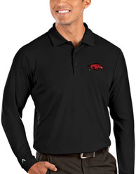 Arkansas Razorbacks Antigua Tribute Polo Shirt - Black
