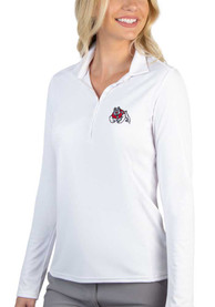 Fresno State Bulldogs Womens Antigua Tribute Polo Shirt - White
