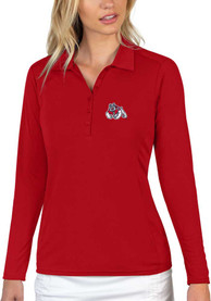 Fresno State Bulldogs Womens Antigua Tribute Polo Shirt - Red