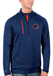 Antigua Boise State Broncos Mens Blue Generation Long Sleeve 1/4 Zip Pullover