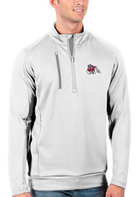 Fresno State Bulldogs Antigua Generation 1/4 Zip Pullover - White