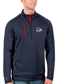 Fresno State Bulldogs Antigua Generation 1/4 Zip Pullover - Navy Blue