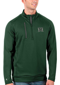 Hawaii Warriors Antigua Generation 1/4 Zip Pullover - Green