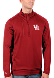Houston Cougars Antigua Generation 1/4 Zip Pullover - Red