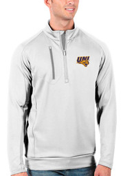 Antigua Northern Iowa Panthers Mens White Generation Long Sleeve 1/4 Zip Pullover