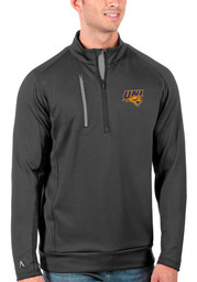 Antigua Northern Iowa Panthers Mens Grey Generation Long Sleeve 1/4 Zip Pullover