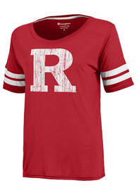 Rutgers Scarlet Knights Juniors Degree Red Scoop T-Shirt