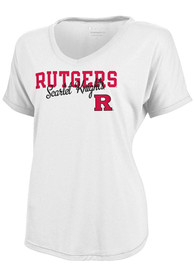 Rutgers Scarlet Knights Juniors White Showtime V-Neck