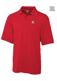 Cutter and Buck Rutgers Scarlet Knights Mens Red DryTec Championship Short Sleeve Polo Shirt