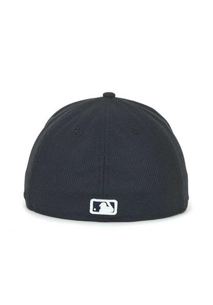 4d869f20fca New Era Detroit Tigers Mens Navy Blue 5950 Diamond Fitted Hat - Image 3
