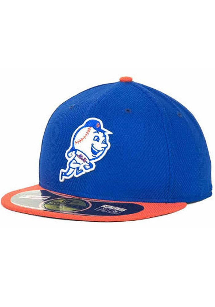 New Era New York Mets Mens Blue 5950 Diamond Fitted Hat - Image 1