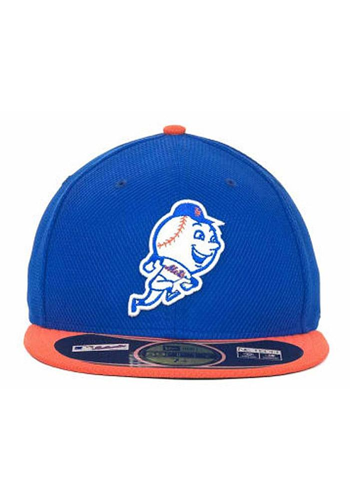 New Era New York Mets Mens Blue 5950 Diamond Fitted Hat - Image 3