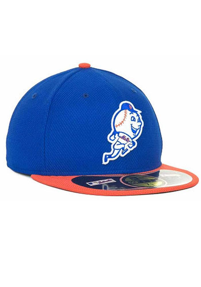 New Era New York Mets Mens Blue 5950 Diamond Fitted Hat - Image 4