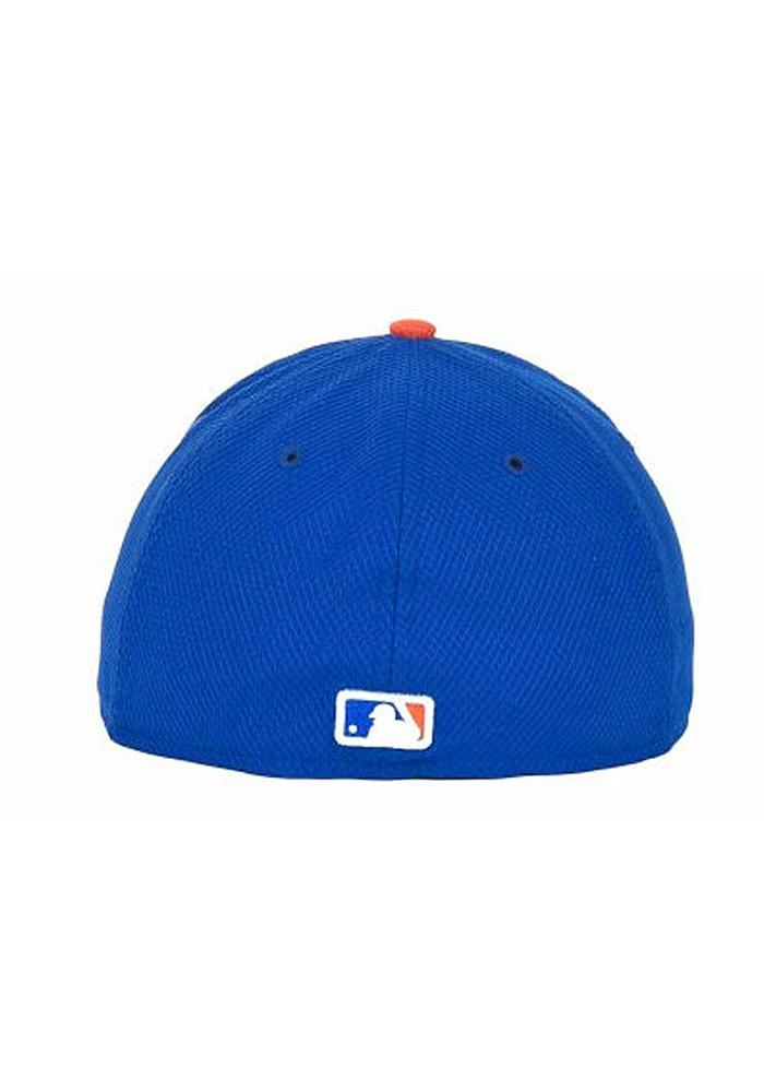 New Era New York Mets Mens Blue 5950 Diamond Fitted Hat - Image 5