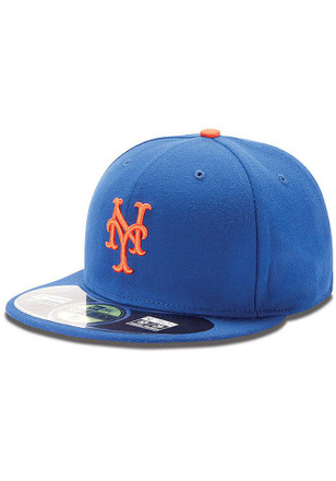 NY Mets New Era Mens Blue Game AC 59FIFTY Fitted Hat