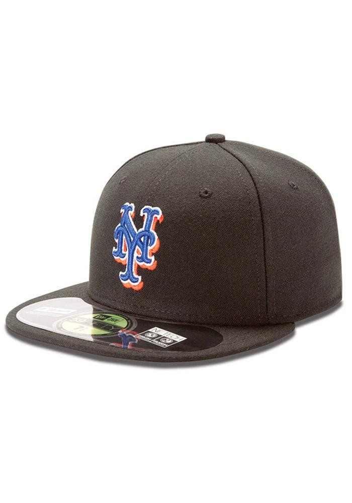 new york mets baseball cap era black on field alternate fitted hat logo font