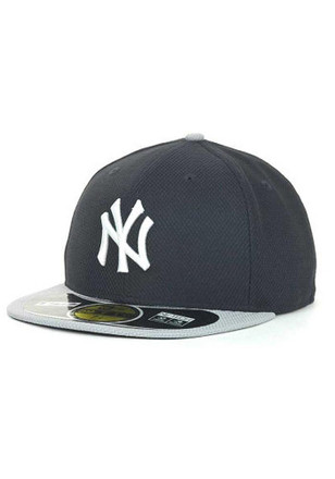 New York Yankees New Era Mens Navy Blue 5950 Road Diamond Fitted Hat