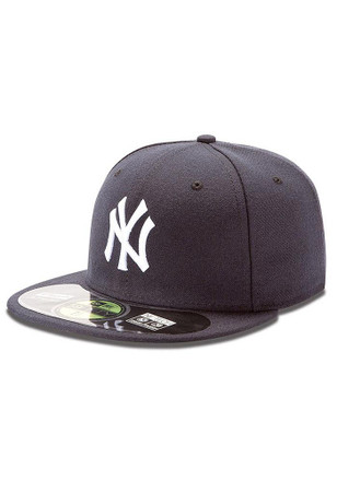 New York Yankees New Era Mens Navy Blue AC 5950 Fitted Hat