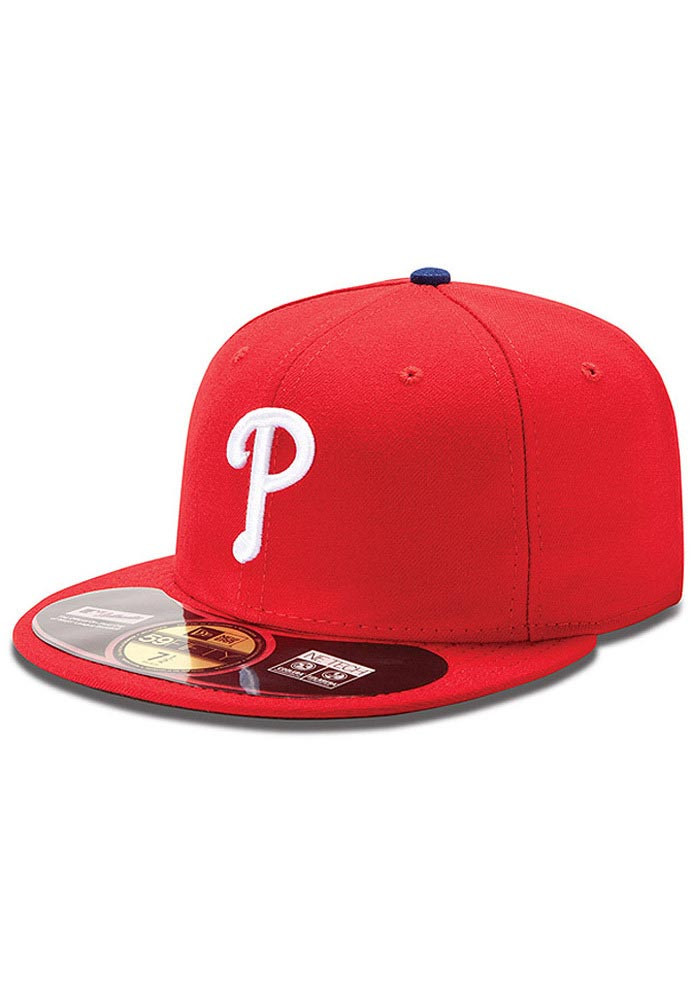 New Era Philadelphia Phillies Mens Red Home AC 59FIFTY Fitted Hat - Image 1