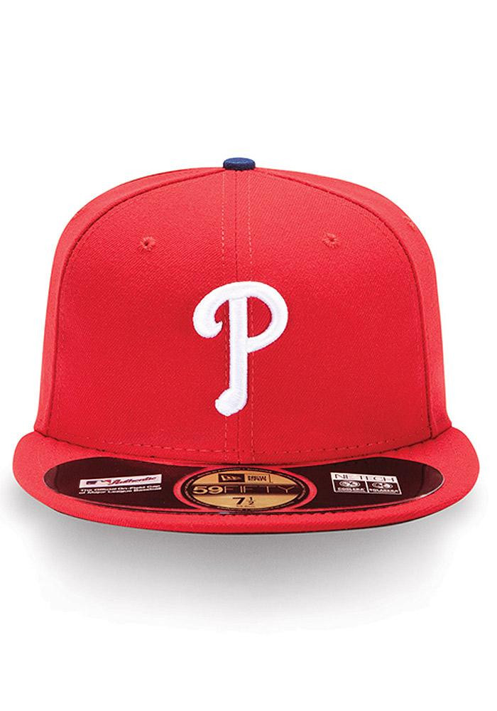 New Era Philadelphia Phillies Mens Red Home AC 59FIFTY Fitted Hat - Image 3