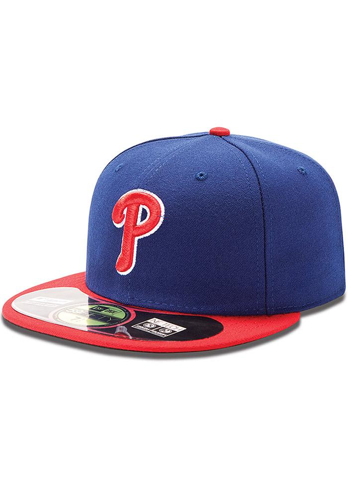 New Era Philadelphia Phillies Mens Blue Alt AC 59FIFTY Fitted Hat - Image 2