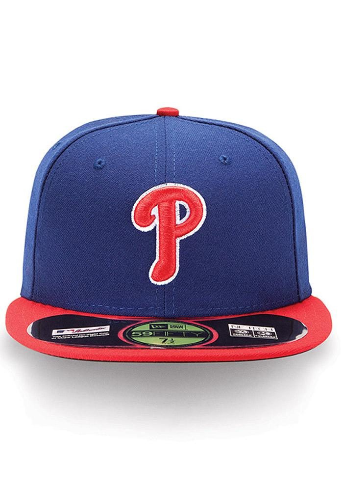 New Era Philadelphia Phillies Mens Blue Alt AC 59FIFTY Fitted Hat - Image 3