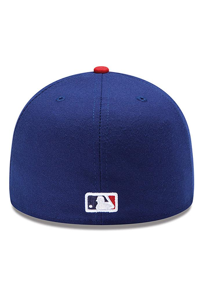 New Era Philadelphia Phillies Mens Blue Alt AC 59FIFTY Fitted Hat - Image 4