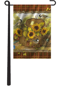 Kansas 12X18 Sunflower In A Basket Garden Flag