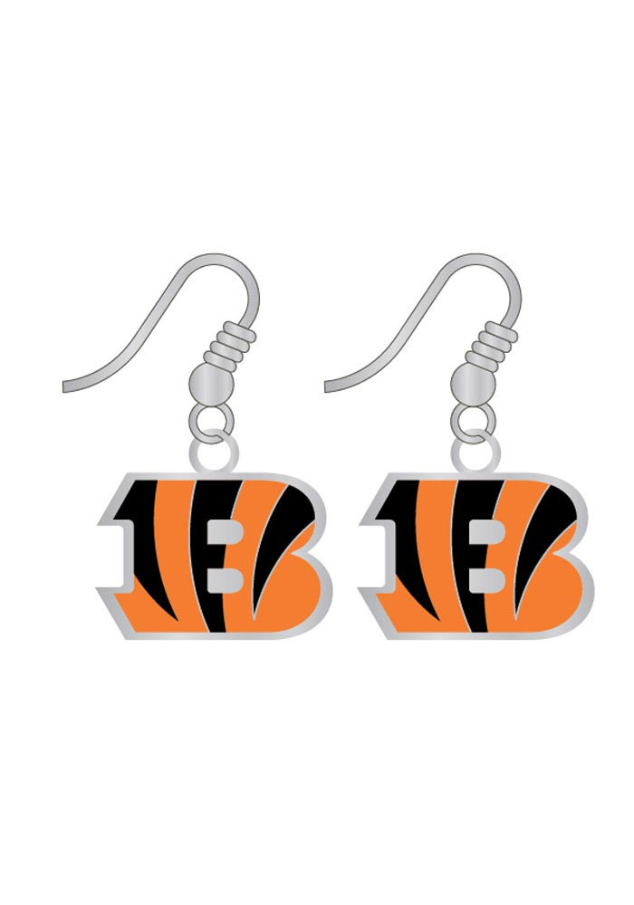 Cincinnati Bengals Logo Dangle Womens Earrings - Image 1