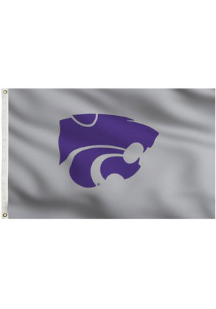K-State Wildcats 3x5 Grey Grommet Applique Flag