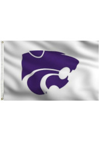 K-State Wildcats 3x5 White Grommet Applique Flag