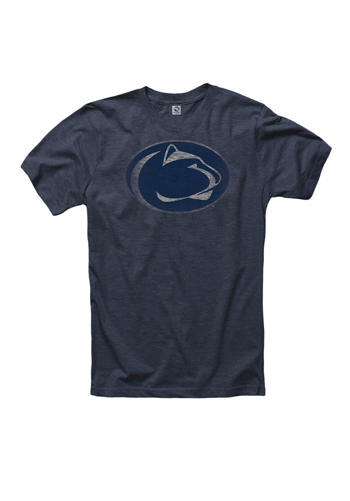Penn State Nittany Lions Mens Grey Fade Out Short Sleeve T Shirt - Image 1