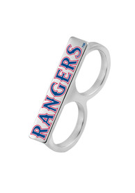 Texas Rangers Womens Knuckler Ring - Silver